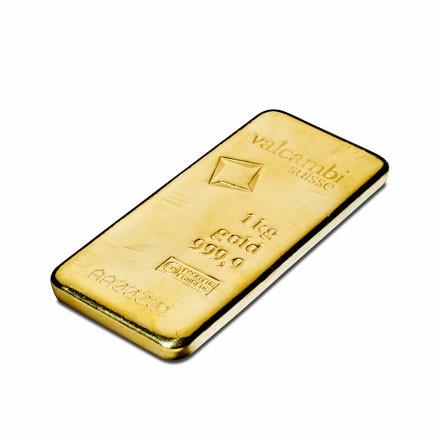 Goldbarren Valcambi gegossen 1 kg