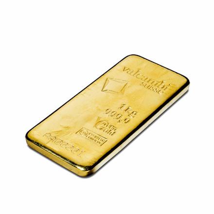 Goldbarren Valcambi Green Gold gegossen 1 kg