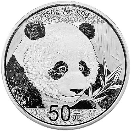 China Panda Silber 150 g 2018 PP