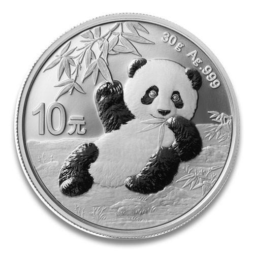 China Panda Silber 30 g 2020