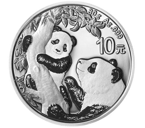 China Panda Silber 30 g 2021