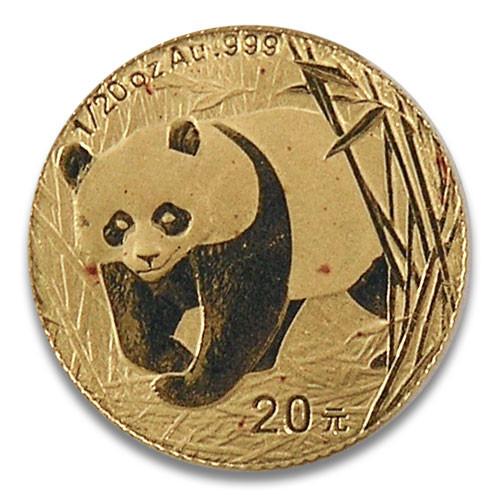 China Panda Gold 1/20 Unze 2002