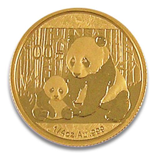 China Panda Gold 1/4 Unze 2012