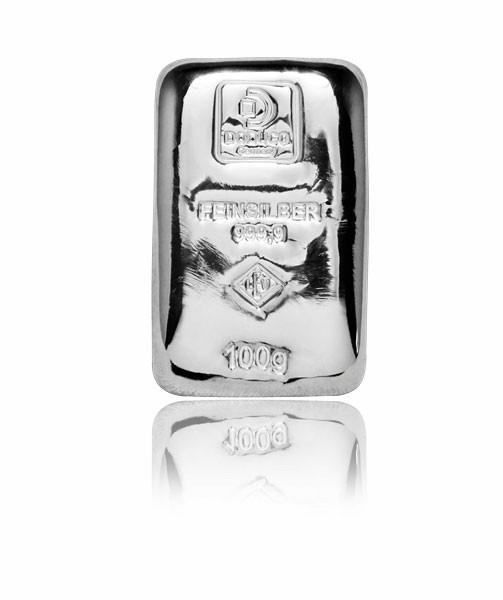 Silberbarren Doduco-LEV 100 g