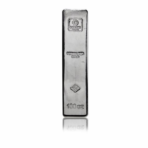 Silberbarren Doduco-LEV 100 oz