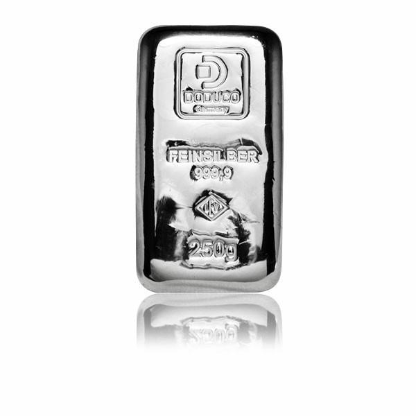 Silberbarren Doduco-LEV 250 g