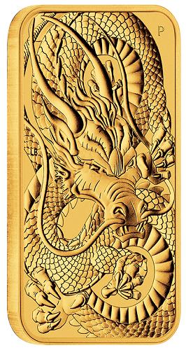 Dragon Rectangular Australien 2021 Gold 1 oz