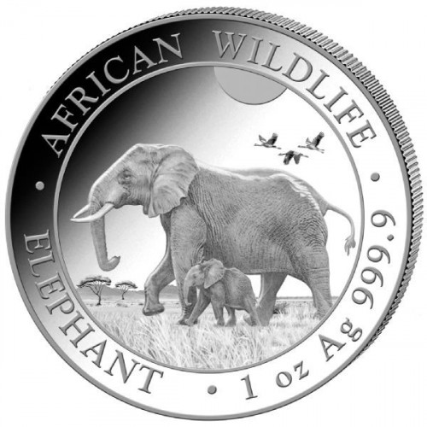 Somalia Elefant Silber 1 oz 2022