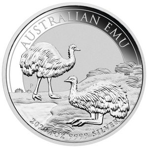 Emu Australien 2020 Silber 1 oz