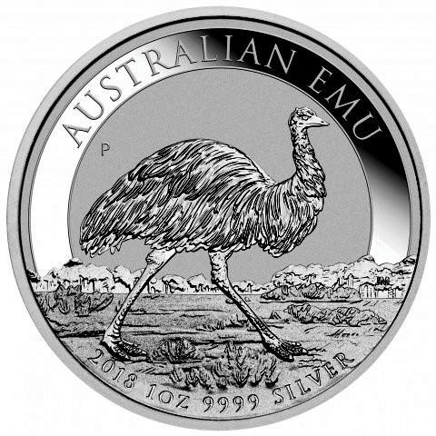 Emu Australien 2018 Silber 1 oz