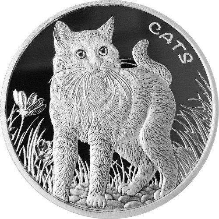 Fiji - Cats Silber 1 oz 2021