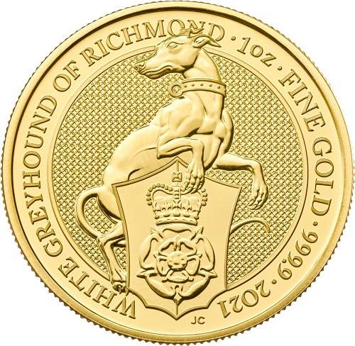 Queens Beast White Greyhound Gold 1 oz 2021