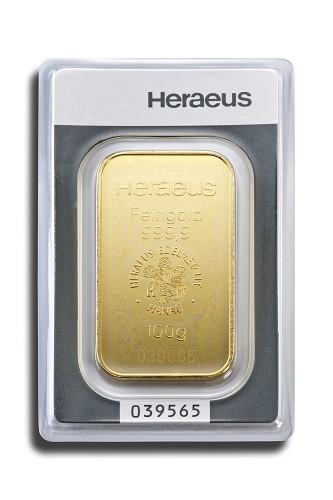 Goldbarren Heraeus 100 g