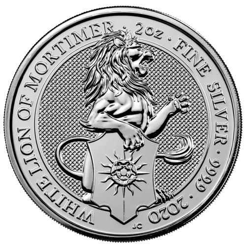 Queens Beast White Lion Silber 2 oz 2020