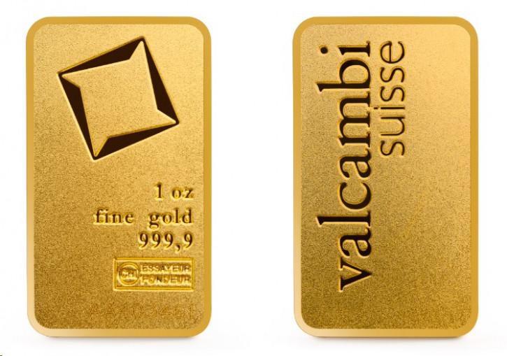 Goldbarren Valcambi 1 oz matt