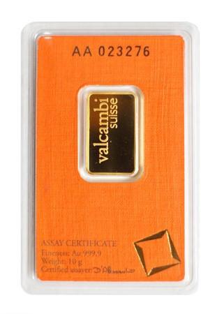 Goldbarren Valcambi 10 g