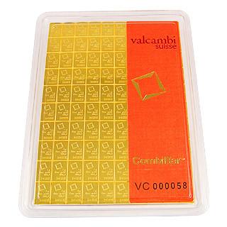 Goldtafelbarren Valcambi 100 g
