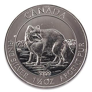 Kanada Polarfuchs Silber 1,5 oz 2014