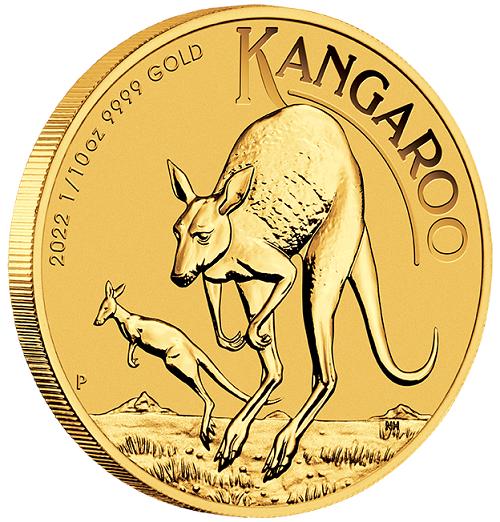 Känguru Australien 2022 Gold 1/10 oz