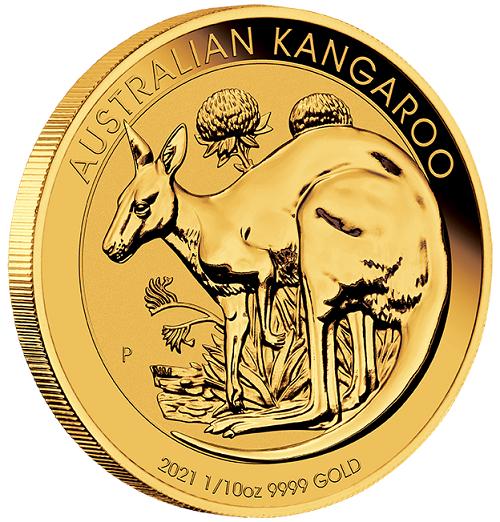 Känguru Australien 2021 Gold 1/10 oz