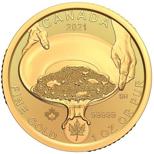 Klondike Gold Rush Gold 1 oz  - Panning for Gold 2021