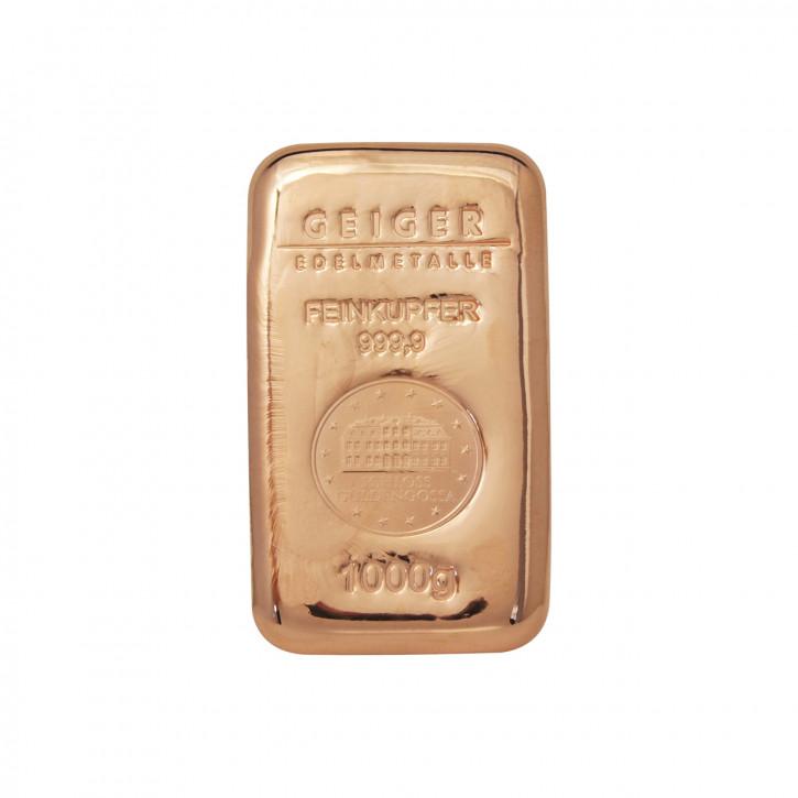 Kupferbarren Güldengossa 1 kg