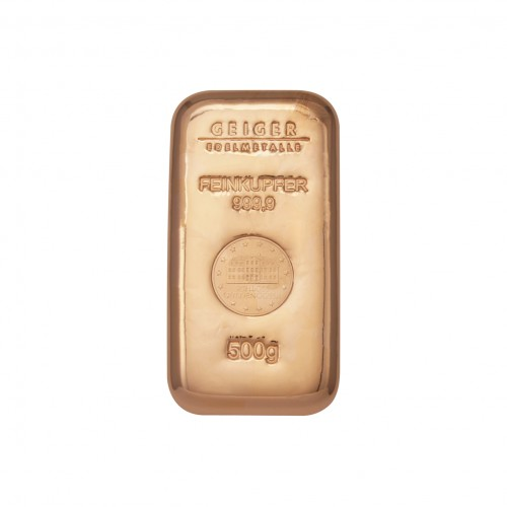 Kupferbarren Güldengossa 500 g