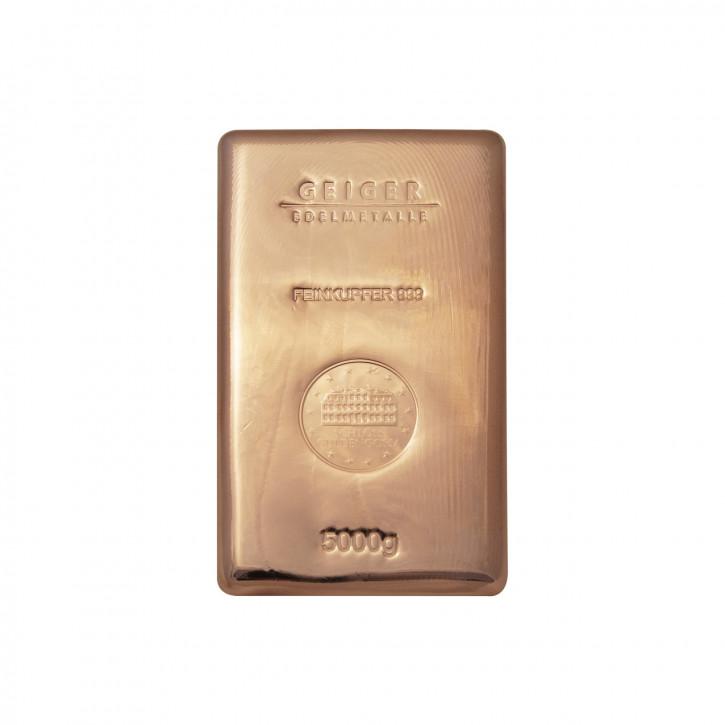 Kupferbarren Güldengossa 5 kg