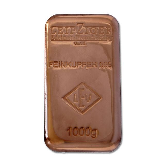 Kupferbarren LEV 1 kg