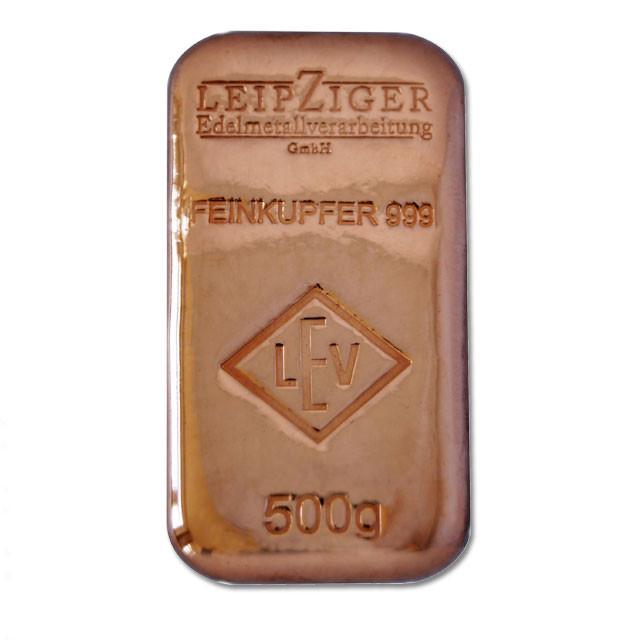 Kupferbarren LEV 500 g