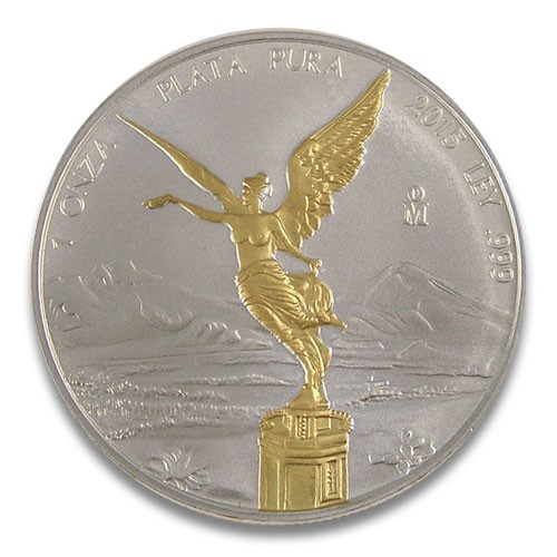 Libertad Silber 1 oz 2015 vergoldet