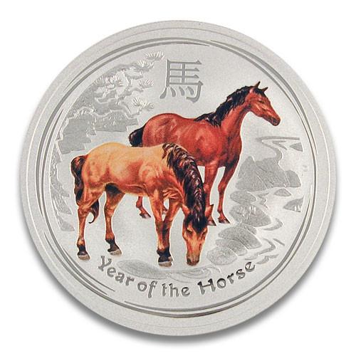 Lunar II Pferd 2014 Silber 1 oz coloriert