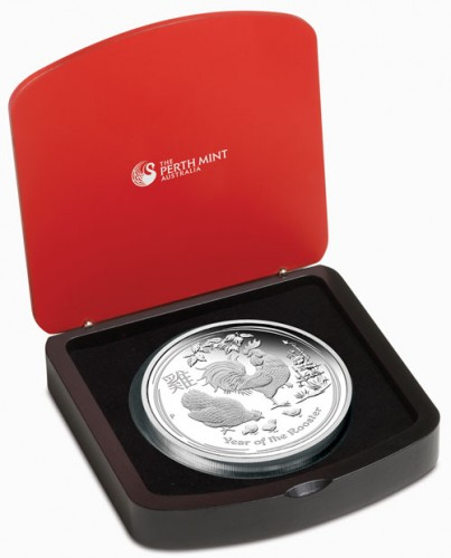 Lunar II Hahn 2017 Silber 1 kg polierte Platte