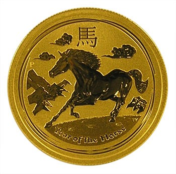 Lunar II Pferd 2014 Gold 1/2 oz