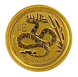 Lunar II Schlange 2013 Gold 1/20 oz