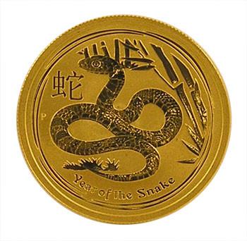 Lunar II Schlange 2013 Gold 1/2 oz