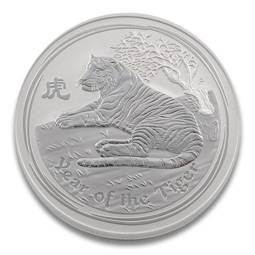Lunar II Tiger 2010 Silber 5 oz