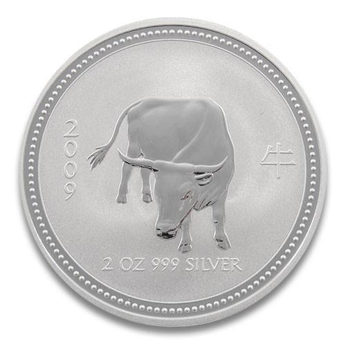 Lunar I Ochse 2009 Silber 2 oz