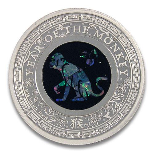 Lunar Opal Affe 2016 Silber 1 oz