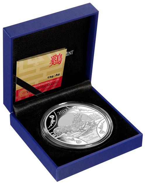 RAM Lunar Hahn 2017 Silber 1 kg polierte Platte