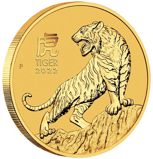 Lunar III Tiger 2022 Gold 2 oz
