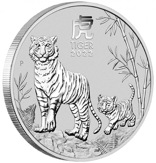 Lunar III Tiger 2022 Silber 1/2 oz