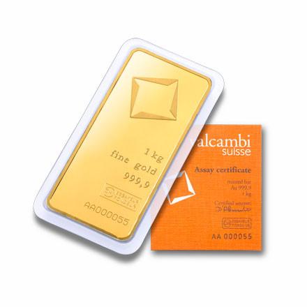 Goldbarren Valcambi 1 kg
