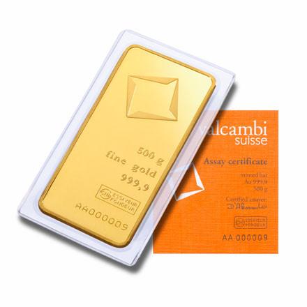 Goldbarren Valcambi 500 g