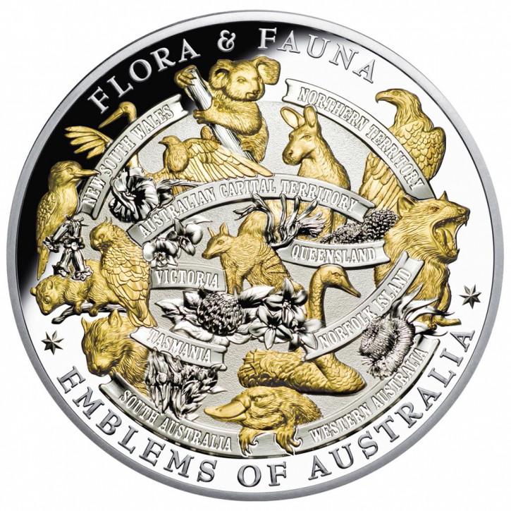 Niue - Flora und Fauna Silber 5 oz vergoldet PP