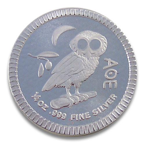 Niue - Athener Eule Silber 1/4 oz 2020