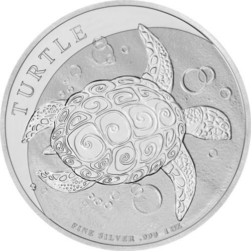 Niue - Turtle Schildkröte Silber 1 oz 2019