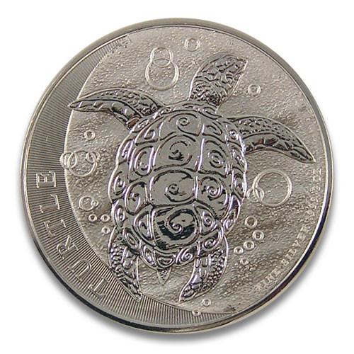 Niue - Turtle Schildkröte Silber 2 oz 2015