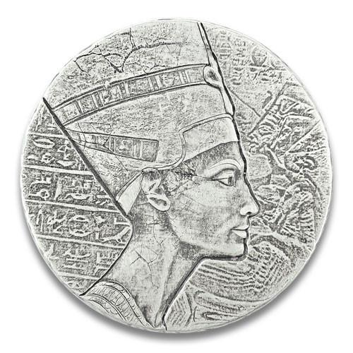 Egyptian Relic Series - Nofretete Silber 5 oz 2017 Antique Finish