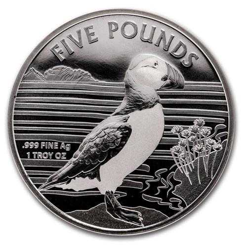 Alderney Puffin Silber 1oz 2019